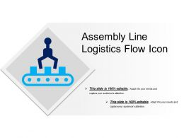 Assembly Line Logistics Flow Icon