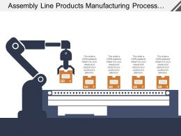 Assembly Line Products Manufacturing Process Boxes