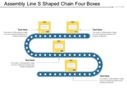 Assembly Line S Shaped Chain Four Boxes