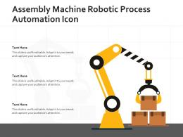 Assembly Machine Robotic Process Automation Icon