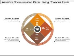 Assertive Communication Circle Having Rhombus Inside