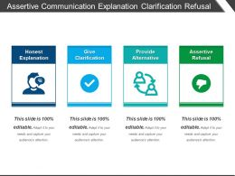 Assertive Communication Explanation Clarification Refusal