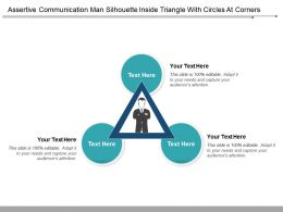 Assertive Communication Man Silhouette Inside Triangle With Circles At Corners