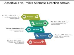 Assertive Five Points Alternate Direction Arrows
