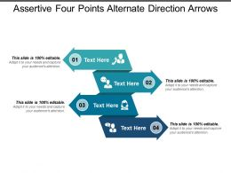 Assertive Four Points Alternate Direction Arrows