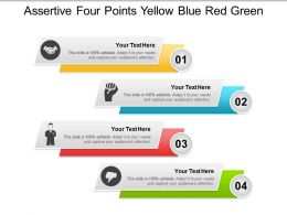 Assertive Four Points Yellow Blue Red Green