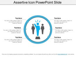 Assertive Icon Powerpoint Slide
