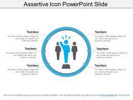 Assertive Icon Powerpoint Slide