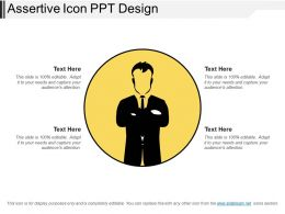 Assertive Icon Ppt Design