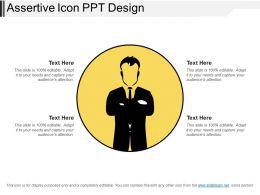 Assertive Icon Ppt Design