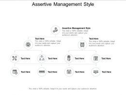 Assertive Management Style Ppt Powerpoint Presentation Skills Cpb