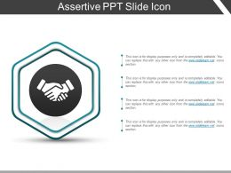 Assertive Ppt Slide Icon