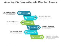 Assertive Six Points Alternate Direction Arrows