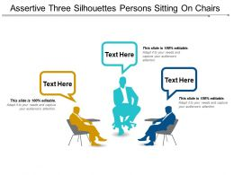 Assertive Three Silhouettes Persons Sitting On Chairs