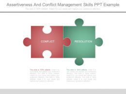 Assertiveness And Conflict Management Skills Ppt Example
