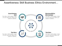 Assertiveness Skill Business Ethics Environment Culture Collaboration Strategic Planning Cpb