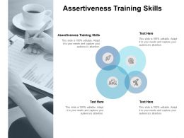 Assertiveness Training Skills Ppt Powerpoint Presentation Outline Cpb