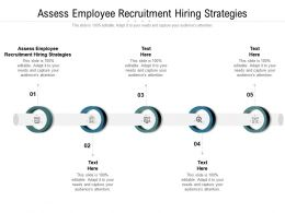 Assess Employee Recruitment Hiring Strategies Ppt Powerpoint Presentation Pictures Cpb