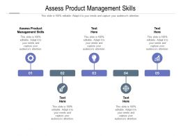 Assess Product Management Skills Ppt Powerpoint Presentation Summary Mockup Cpb