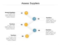 Assess Suppliers Ppt Powerpoint Presentation Model Icons Cpb