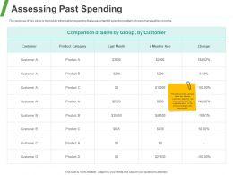 Assessing Past Spending Ppt Powerpoint Presentation Ideas Format