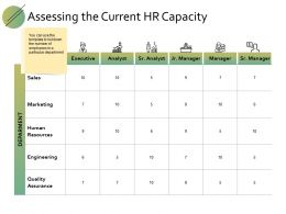 Assessing The Current Hr Capacity Ppt Powerpoint Presentation Diagram Graph Charts