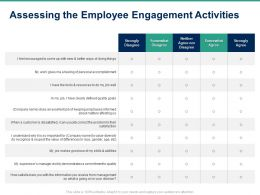Assessing The Employee Engagement Activities Ppt Powerpoint Presentation Ideas Themes