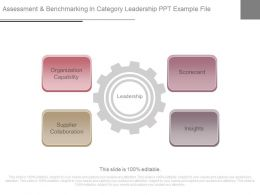 Assessment And Benchmarking In Category Leadership Ppt Example File