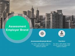 Assessment Employer Brand Ppt Powerpoint Presentation Layouts Design Inspiration Cpb