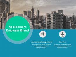 Assessment Employer Brand Ppt Powerpoint Presentation Layouts Design Inspiration Cpb