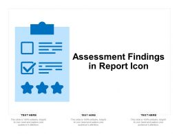 Assessment Findings In Report Icon