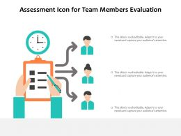 Assessment Icon For Team Members Evaluation
