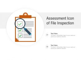 Assessment Icon Of File Inspection