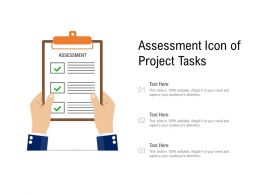 Assessment Icon Of Project Tasks