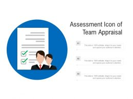 Assessment Icon Of Team Appraisal