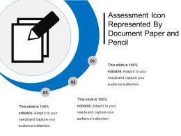 Assessment Icon Represented By Document Paper And Pencil