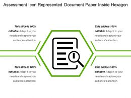 Assessment Icon Represented Document Paper Inside Hexagon