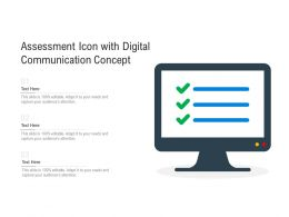 Assessment Icon With Digital Communication Concept