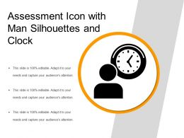 Assessment Icon With Man Silhouettes And Clock