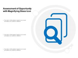Assessment Of Opportunity With Magnifying Glass Icon