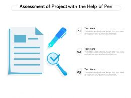 Assessment Of Project With The Help Of Pen