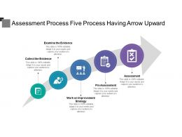 Assessment Process Five Process Having Arrow Upward