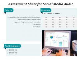Assessment Sheet For Social Media Audit