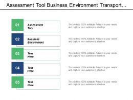 Assessment Tool Business Environment Transport Decision Making Framework Cpb