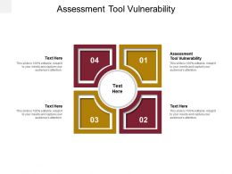 Assessment Tool Vulnerability Ppt Powerpoint Presentation Infographics Example Cpb