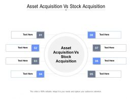 Asset Acquisition Vs Stock Acquisition Ppt Powerpoint Presentation File Layout