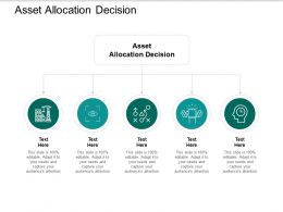 Asset Allocation Decision Ppt Powerpoint Presentation Outline Graphics Tutorials Cpb