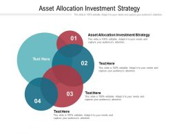 Asset Allocation Investment Strategy Ppt Powerpoint Presentation Ideas Sample Cpb