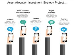 Asset Allocation Investment Strategy Project Summary Data Communications Cpb