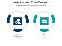 Asset Allocation Model Examples Ppt Powerpoint Presentation Layouts Good Cpb